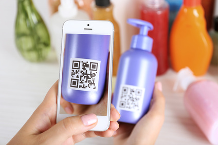 QR Code on cosmetic (product)