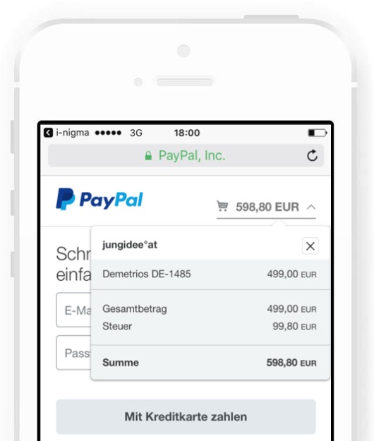 Mobile Shopping PayPal