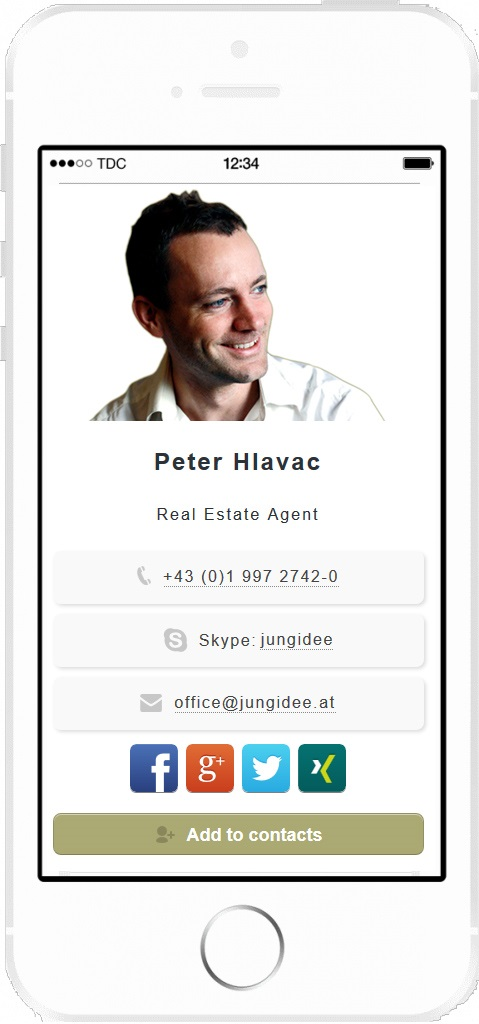 real-estate mobile business card